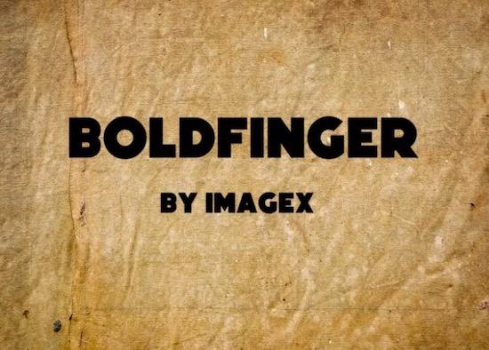 Boldfinger font free