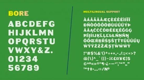 Bore font