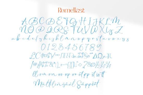 Botaky Romellast font download