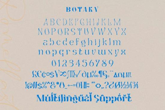 Botaky Romellast font free