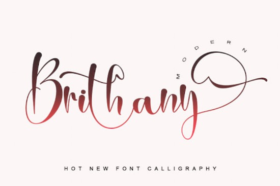 Brithany font free download