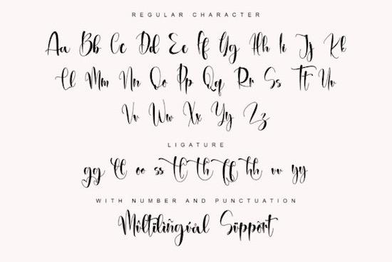 Brithany font free