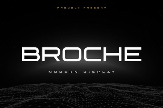 Broche font free download