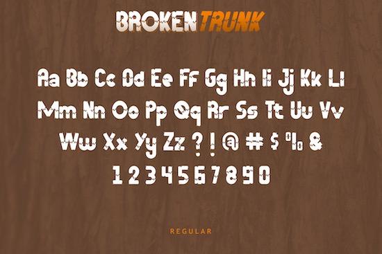 Broken Trunk font download