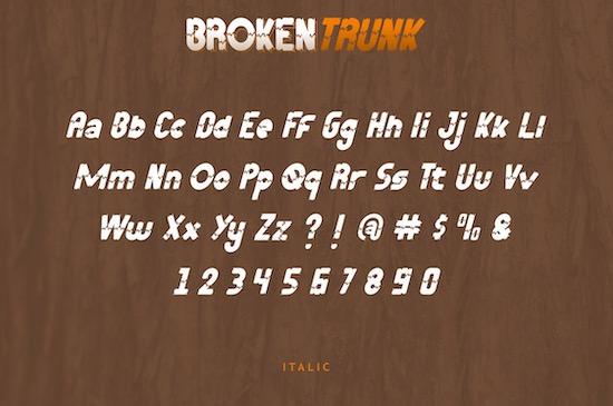Broken Trunk font free download