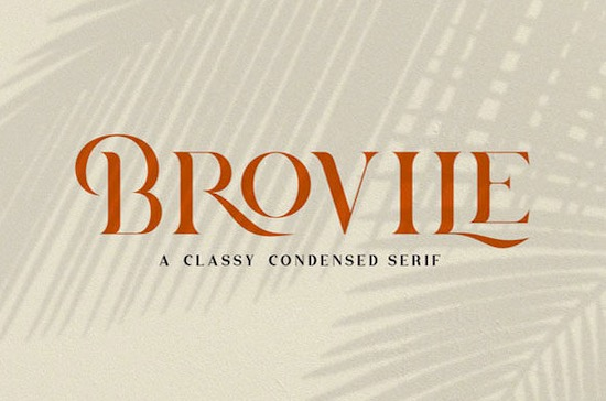 Brovile font free download