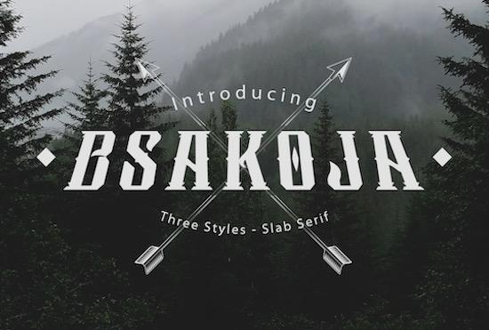 Bsakoja font free download