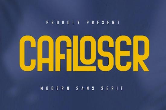 Cafiloser font free download