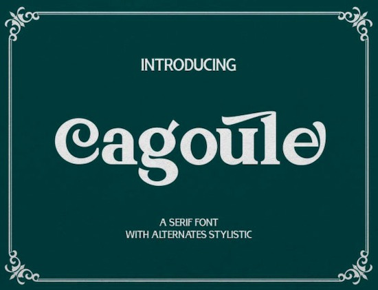 Cagoule font free download