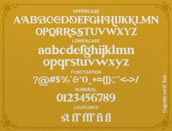 Cagoule font free