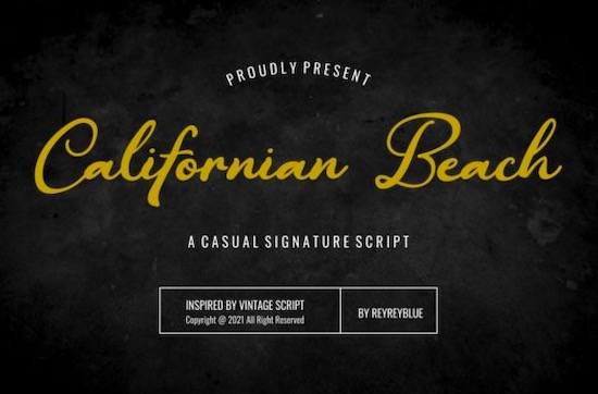 Californian Beach font free download