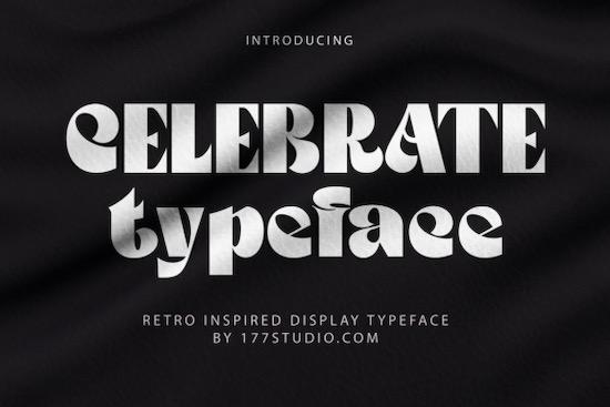 Celebrate font free