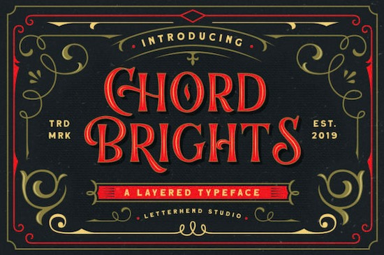 Chord Brights font free download