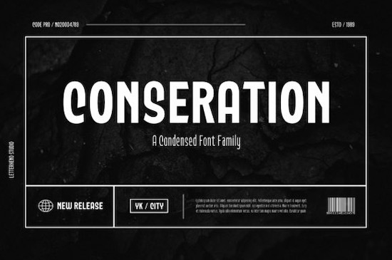 Conseration font free download