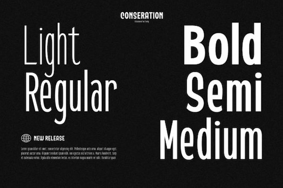 Conseration font