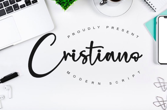 Cristiano font free download