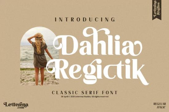 Dahlia Regictik font free download