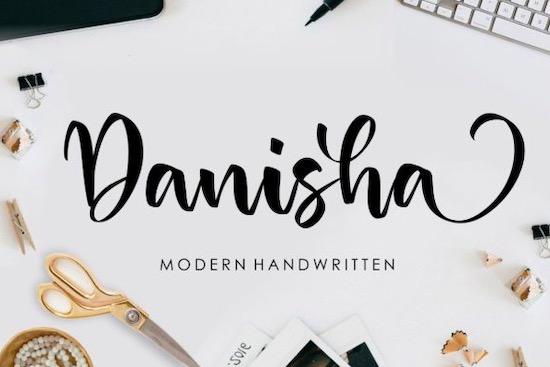 Danisha font free download