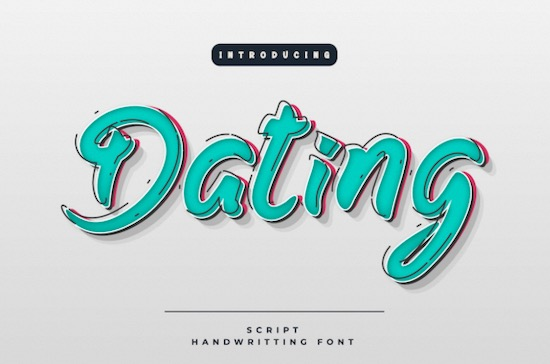 Dating font free download
