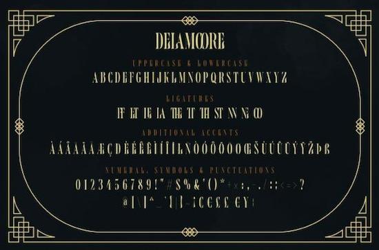 Delamoore font download