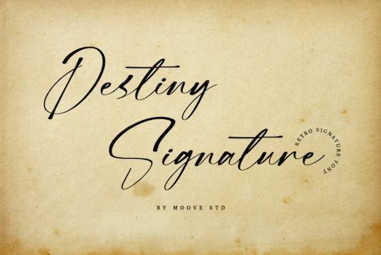 Destiny Signature font free download