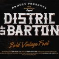Distric of Barthon font free download