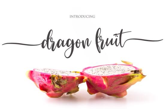 Dragon Fruit font free download