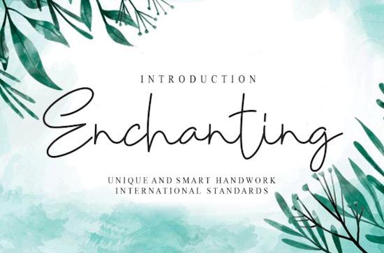 Enchanting font free download