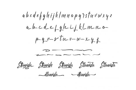 Etherish font download
