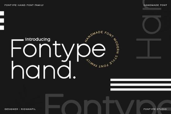 Fontype Hand font free download