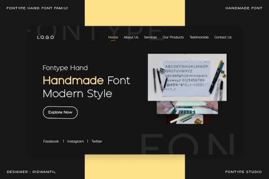 Fontype Hand font download