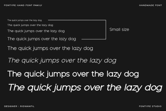 Fontype Hand font