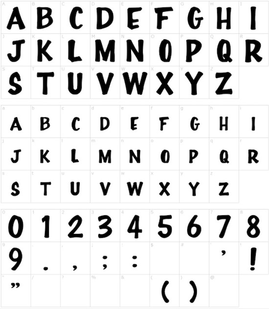 Full House font free