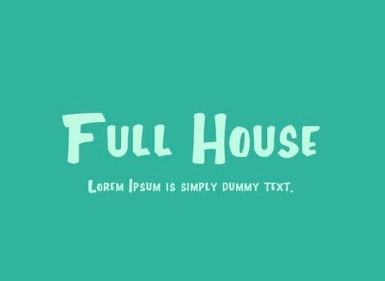 Full House font