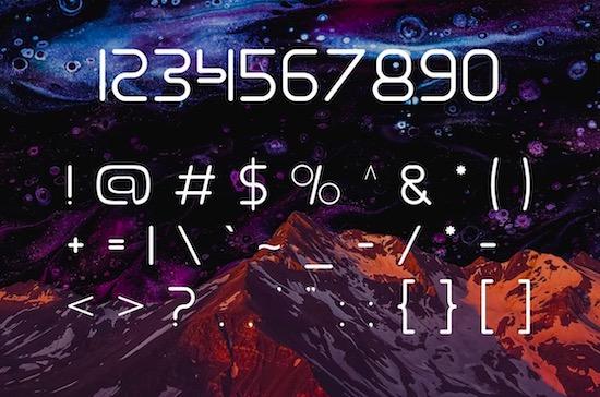 Gamero font