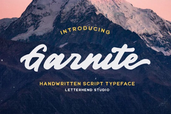 Garnite font free download