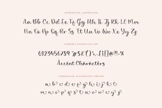 Girlish font
