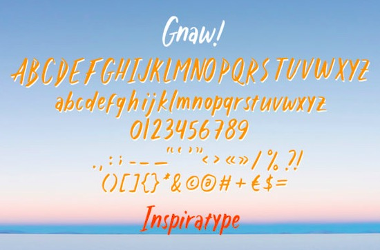 Gnaw font