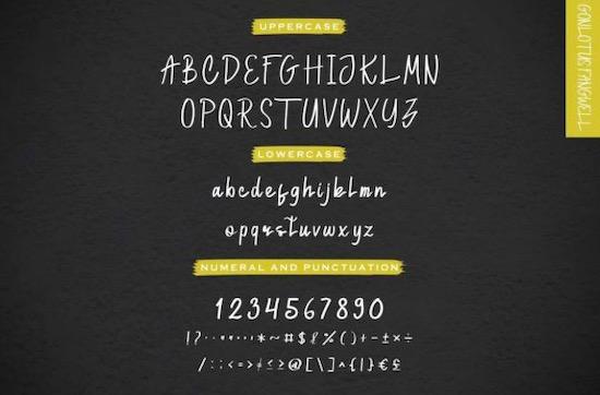 Gonlotus Fangwell font download
