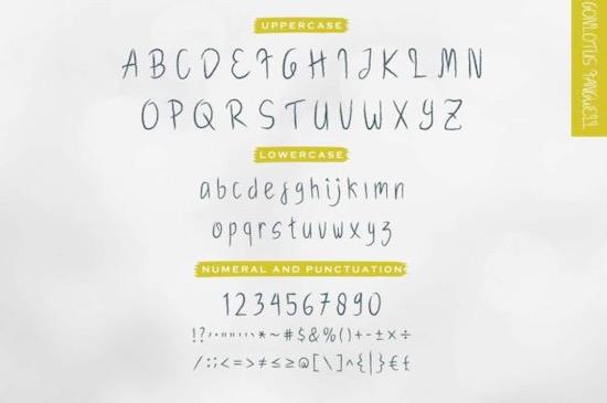Gonlotus Fangwell font free