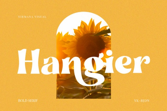 Hangier font free download