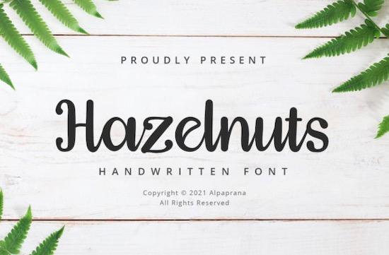 Hazelnuts font free download