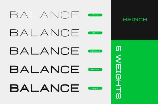 Heinch font