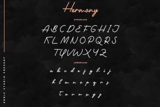 Hermony font download
