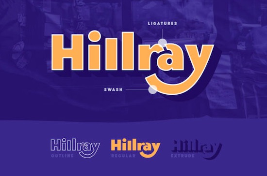 Hillray font free