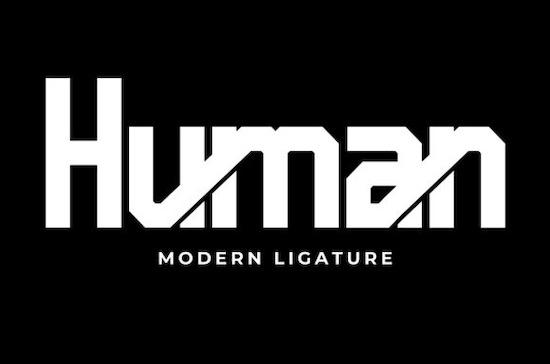 Human font free download
