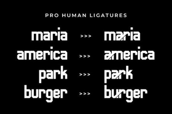 Human font free