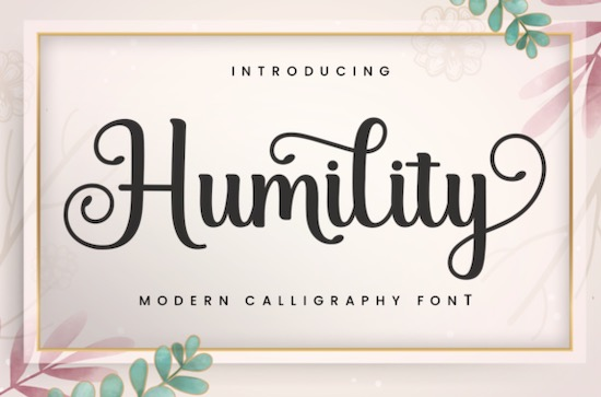 Humility font free download