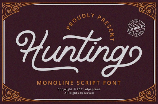 Hunting font free download