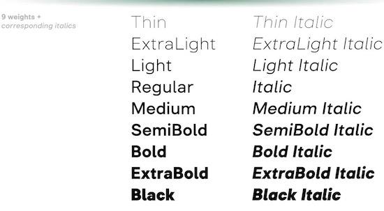 Inerta font free